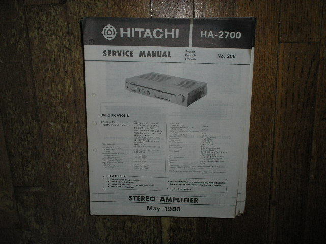 HA-2700 Amplifier Service Manual