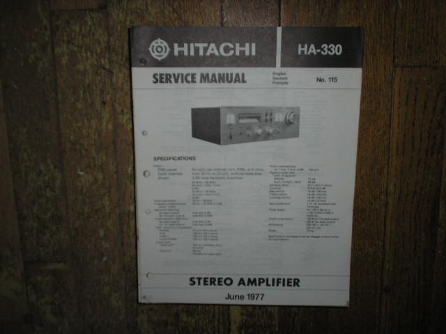 HA-330 Amplifier Service Manual