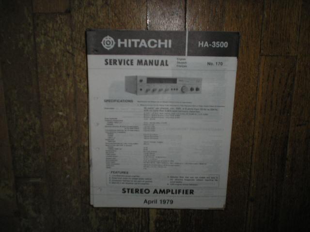 HA-3500 Amplifier Service Manual