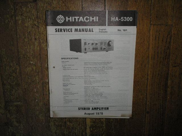 HA-5300 Amplifier Service Manual