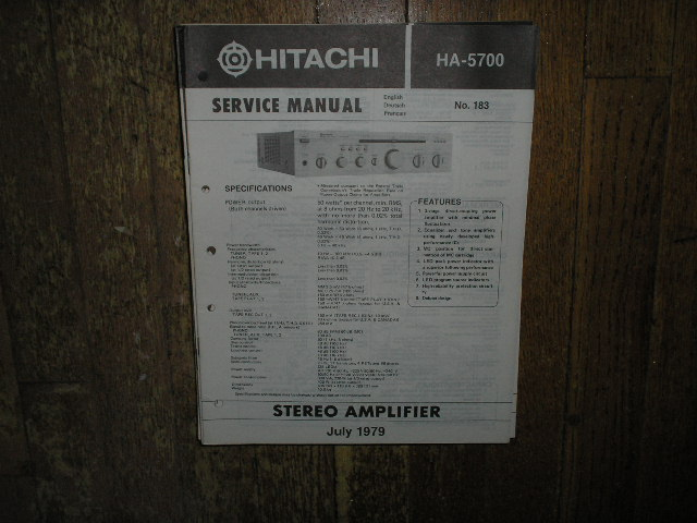 HA-5700 Amplifier Service Manual