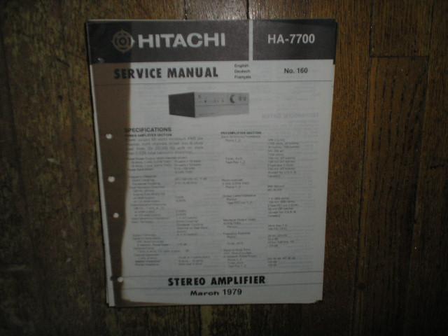 HA-7700 Amplifier Service Manual