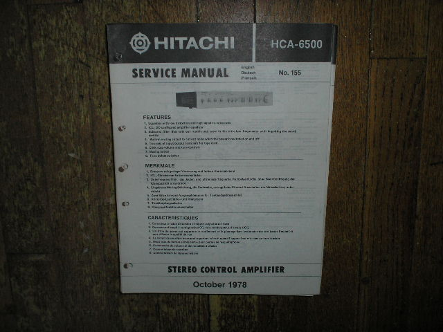 HCA-6500 Pre-Amplifier Service Manual