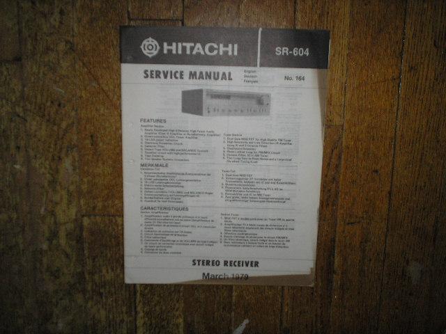 Hitachi SR-604 Receiver Instruction Manual