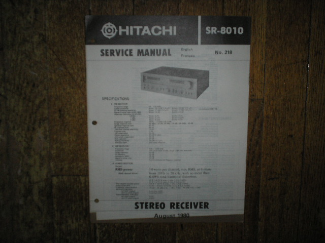 SR-8010 Receiver Service Manual  Hitachi Receivers