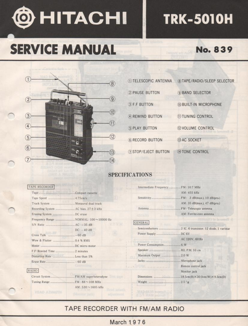 TRK-5010H Radio Service Manual