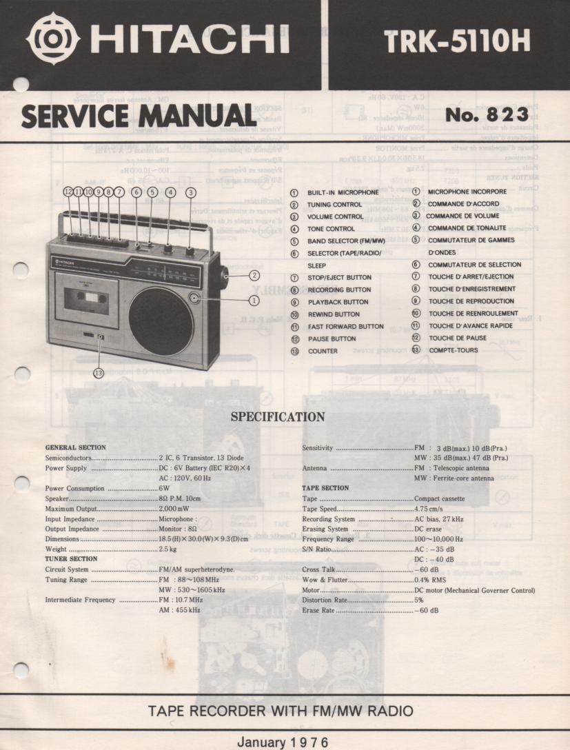 TRK-5110H Radio Service Manual