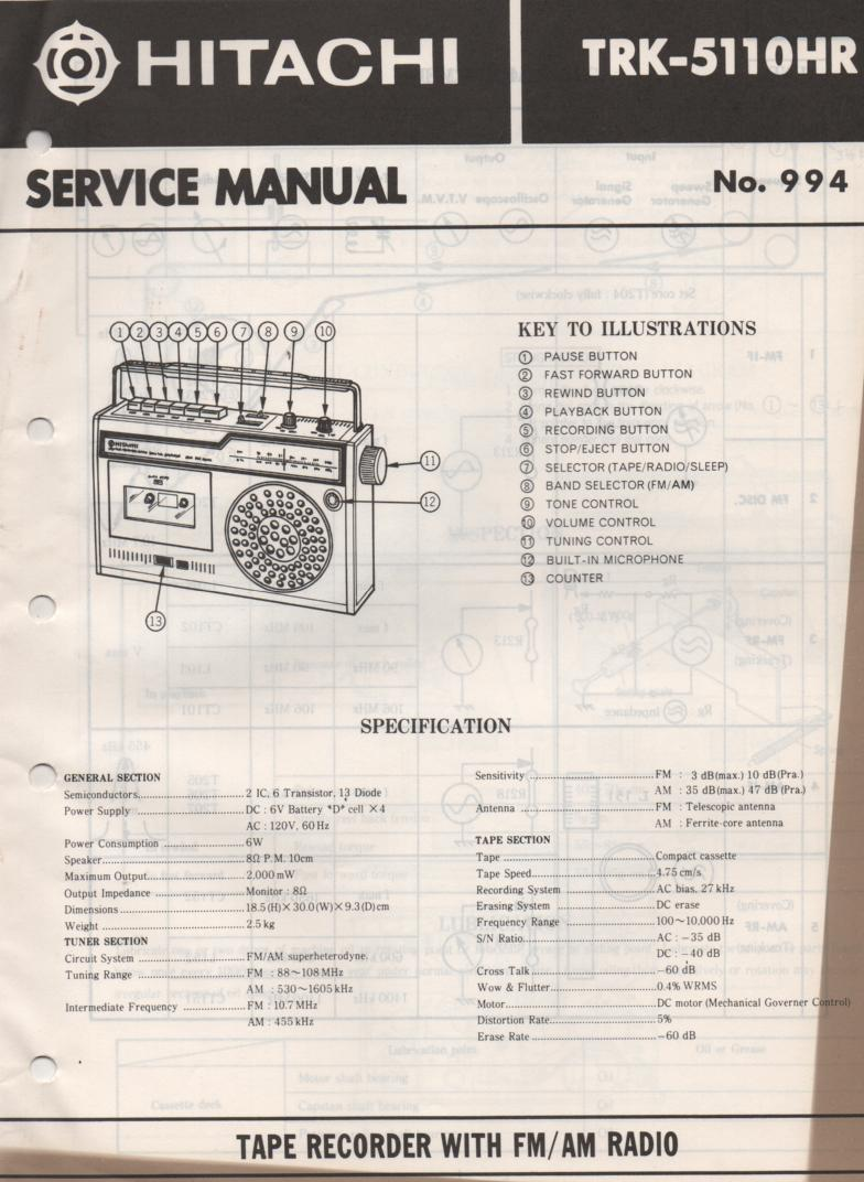 TRK-5110HR Radio Service Manual