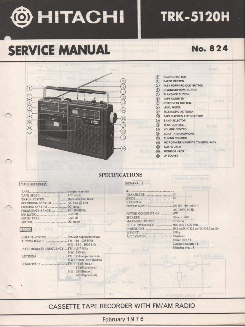 TRK-5120H Radio Service Manual