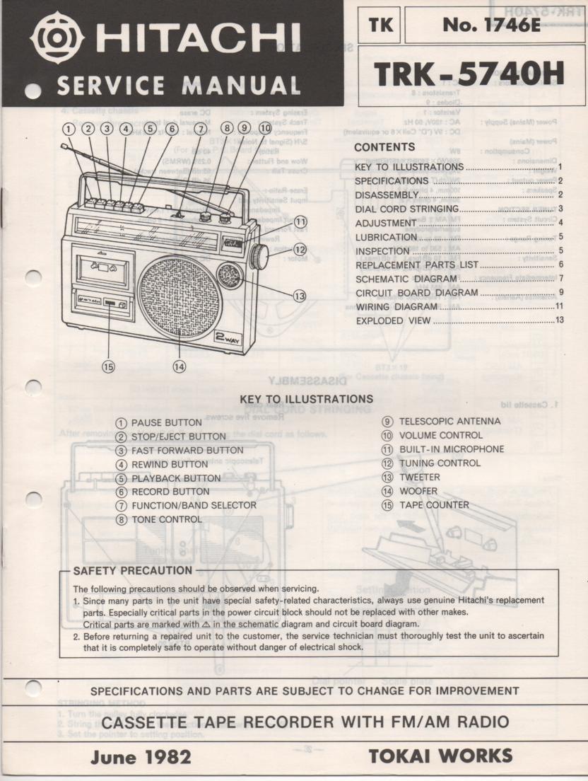 TRK-5740H Radio Service Manual