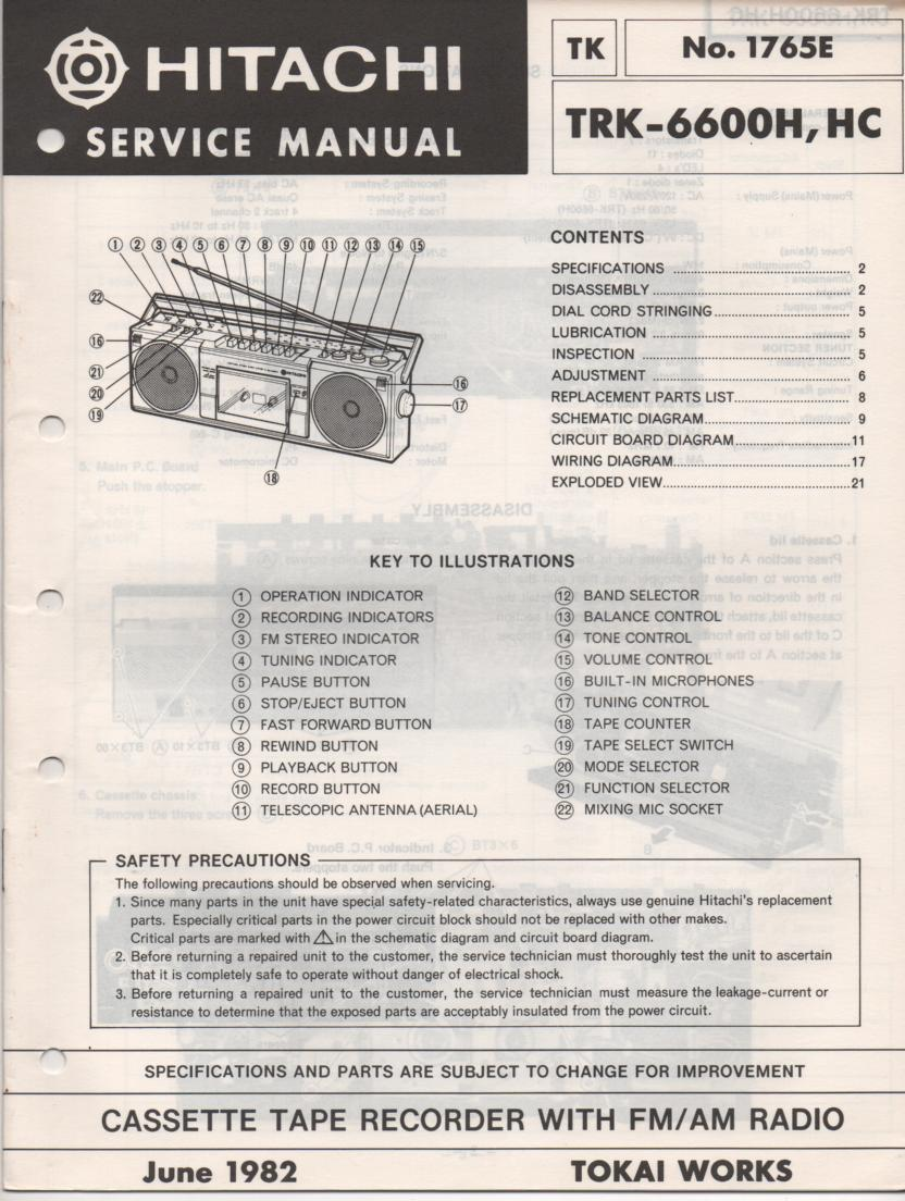 TRK-6600H TRK-6600HC Radio Service Manual