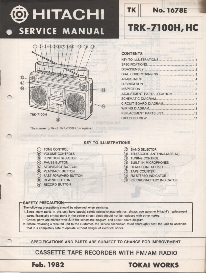 TRK-7100H TRK-7100HC Radio Service Manual