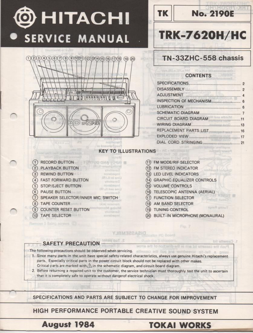 TRK-7620 TRK-7620HC Radio Service Manual