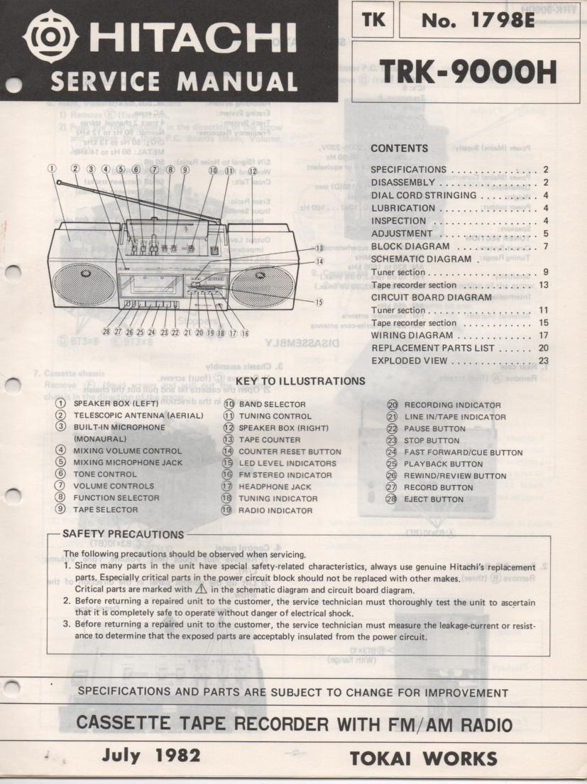 TRK-9000H Radio Service Manual