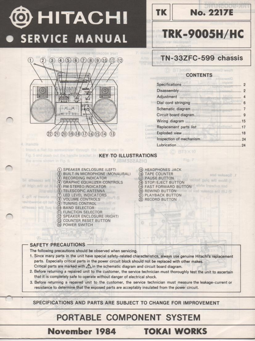 TRK-9005H TRK-9005HC Radio Service Manual