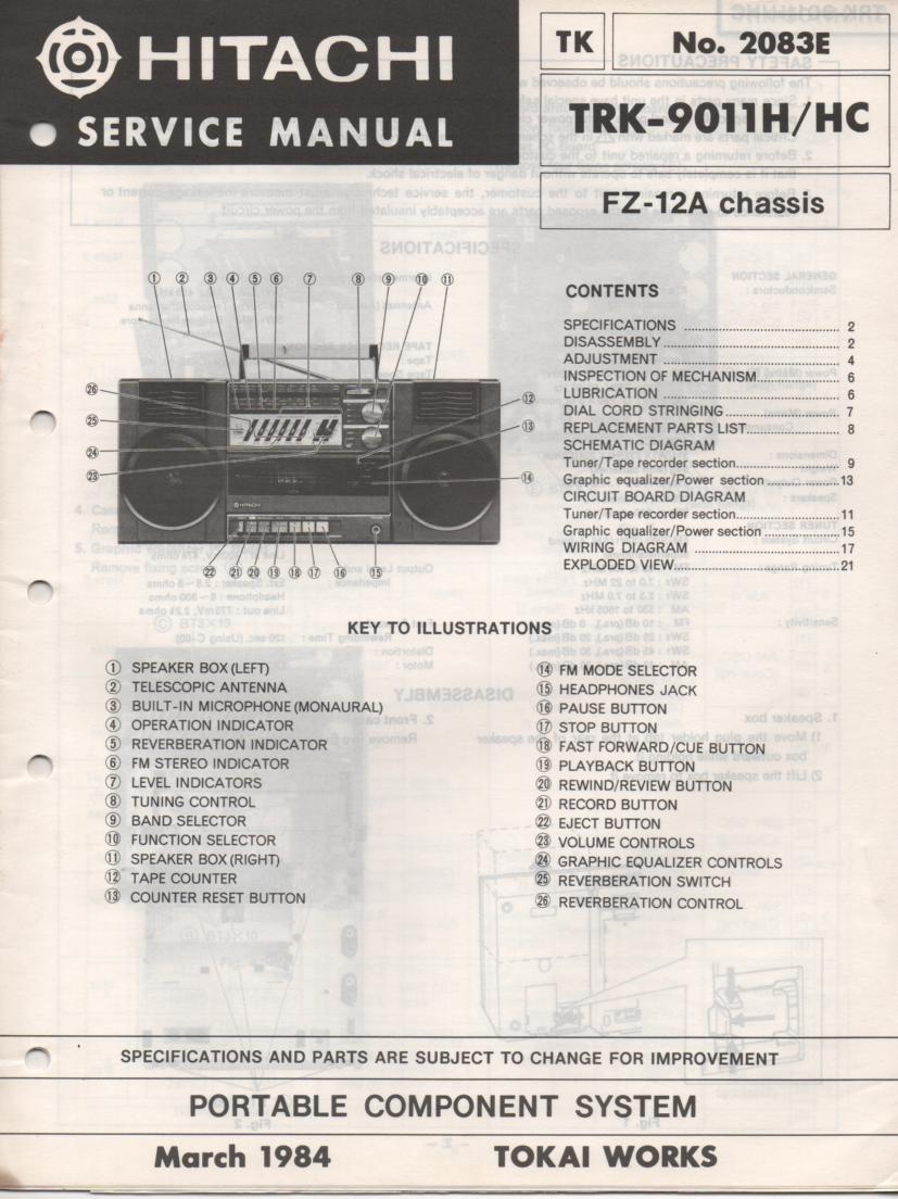 TRK-9011H TRK-9011HC Radio Service Manual