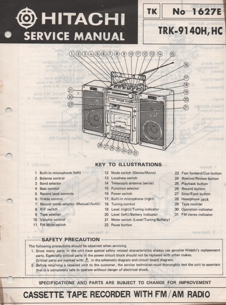 TRK-9140H TRK-9140HC Radio Service Manual