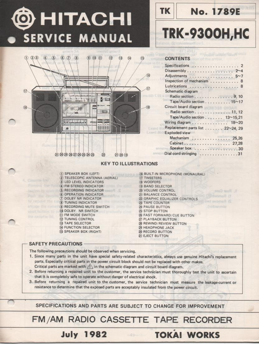 TRK-9300H TRK-9300HC Radio Service Manual