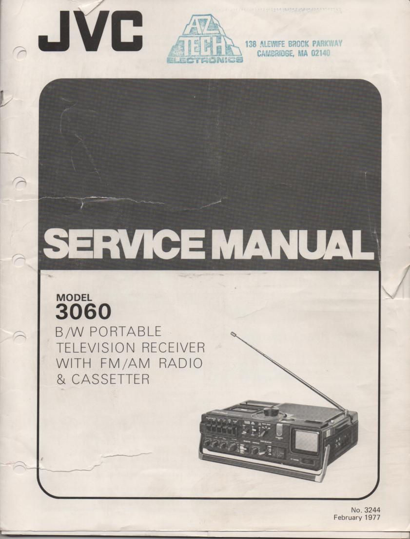 3060 Portable TV Radio Service Manual