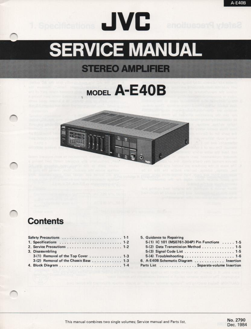 A-E40B Amplifier Service Manual