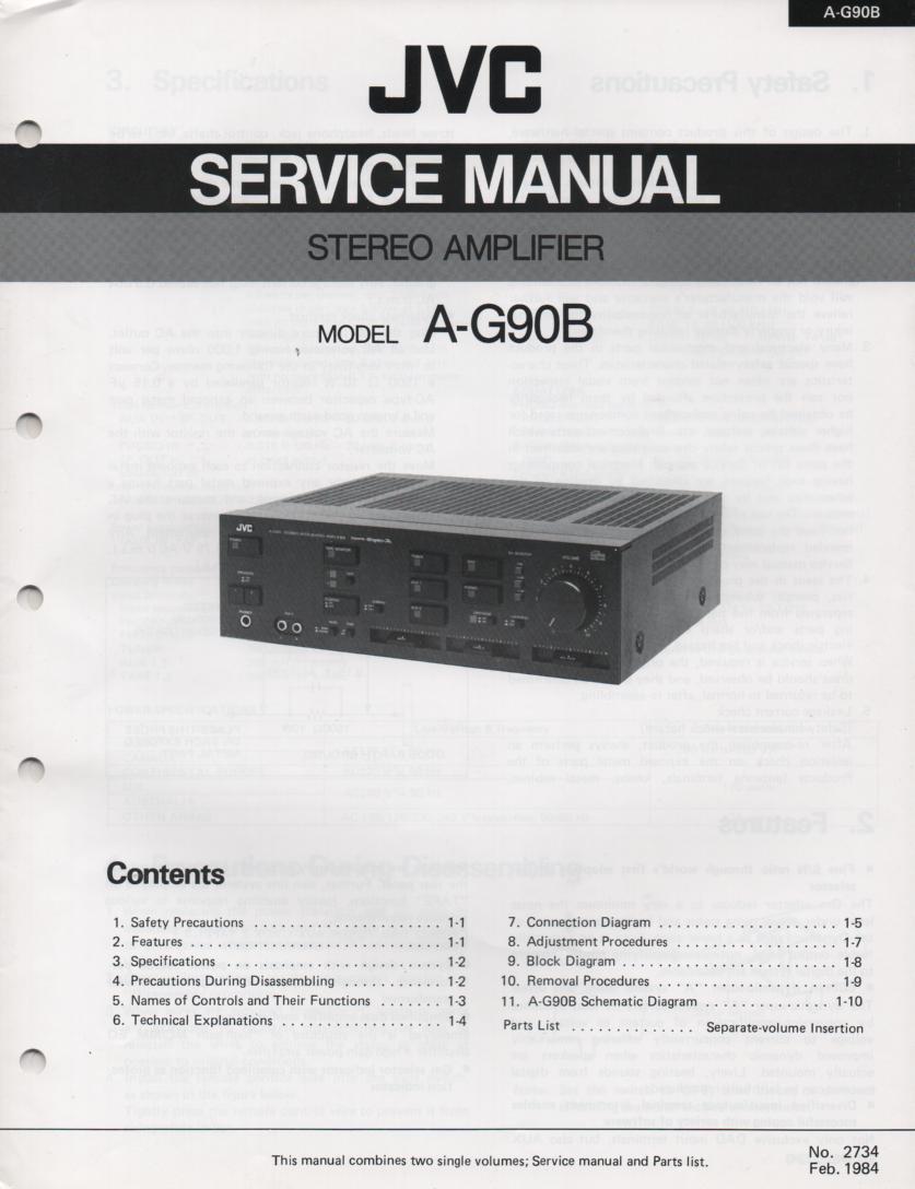 A-G90B Amplifier Service Manual