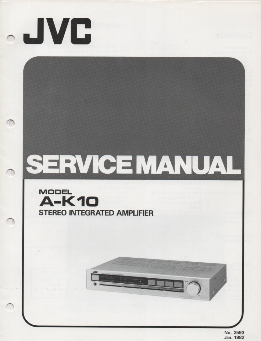A-K10 Amplifier Service Manual