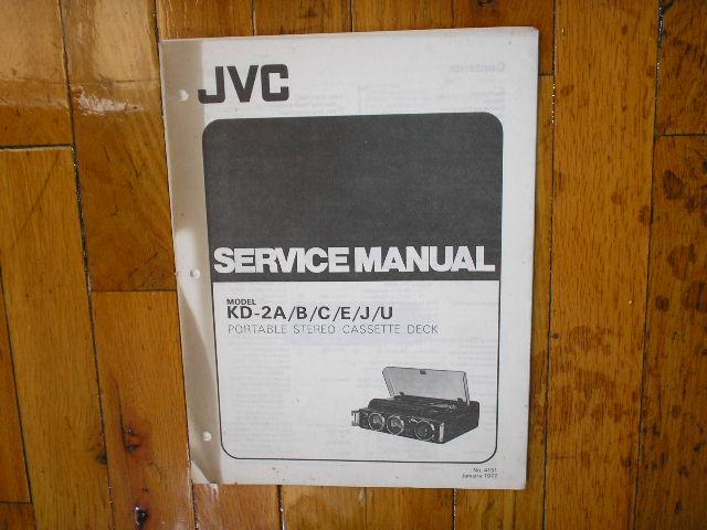 KD-2 A/B/C/E/J/U Cassette Deck Service  Manual