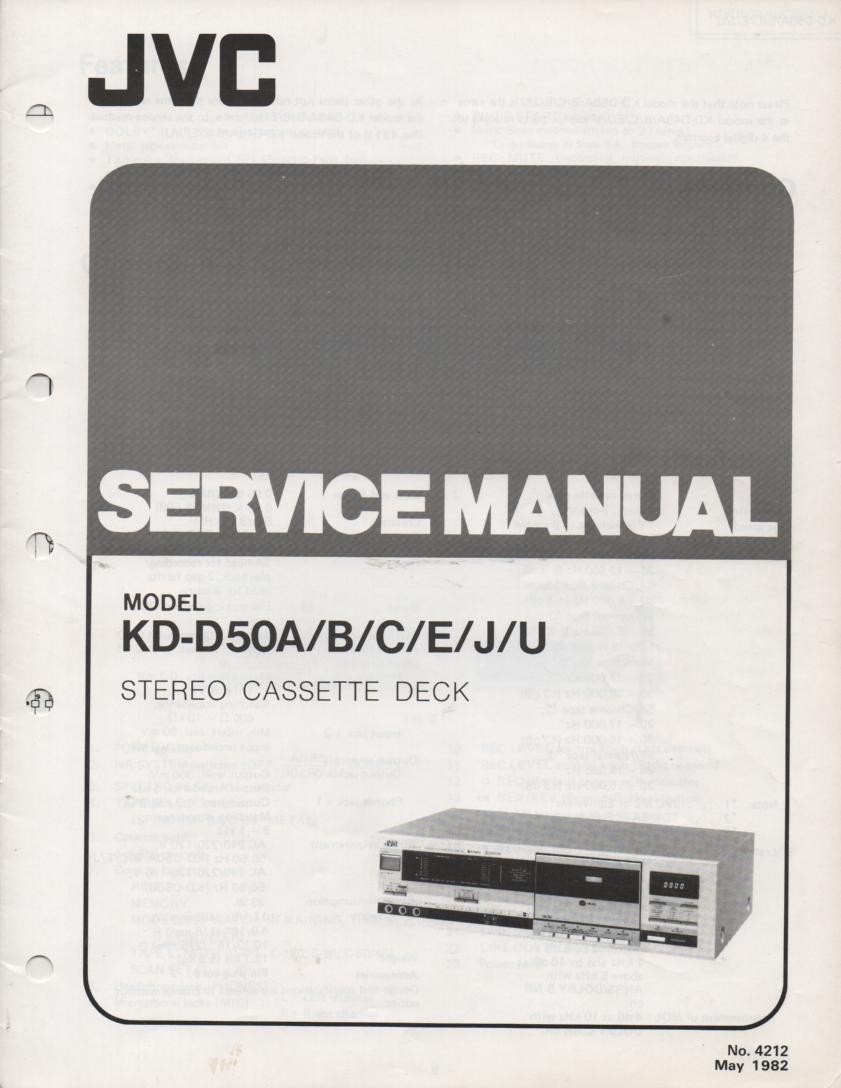 KD-D50 A B C E J U Cassette Deck Service Manual