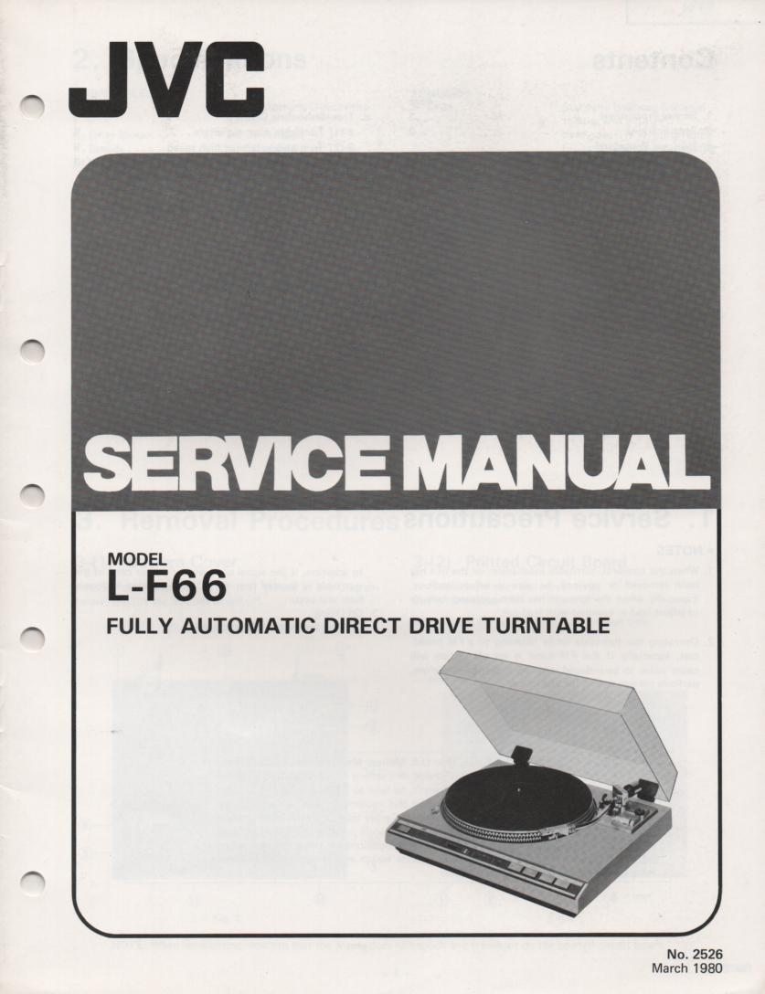 L-F66 Turntable Service Manual
