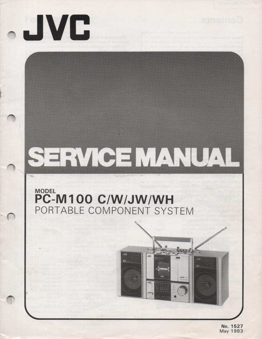 PC-M100 C W JW WH Portable Stereo Service Manual