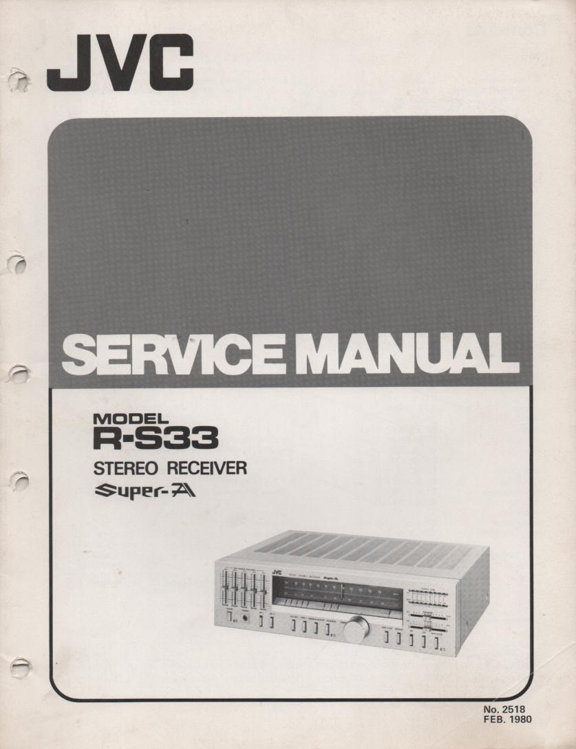 R-S33 Receiver Service Manual