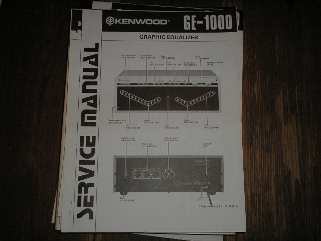 GE-1000 Graphic Equalizer Service Manual B51-1227 ...220
