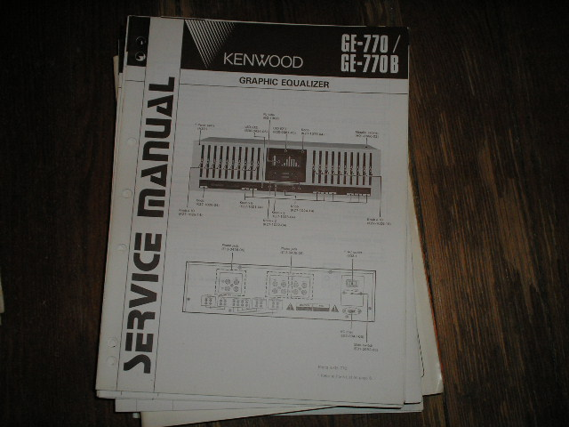 GE-770 GE-770 B Graphic Equalizer Service Manual B51-1482 ...220