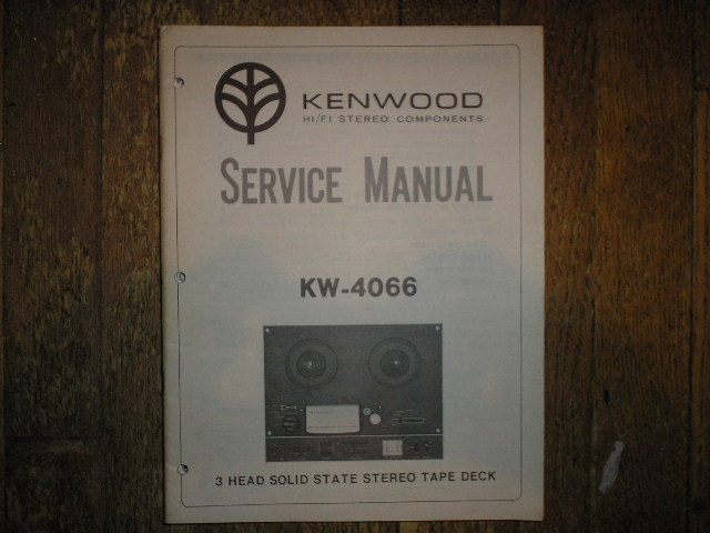 KW-4066 Reel to Reel Service Manual