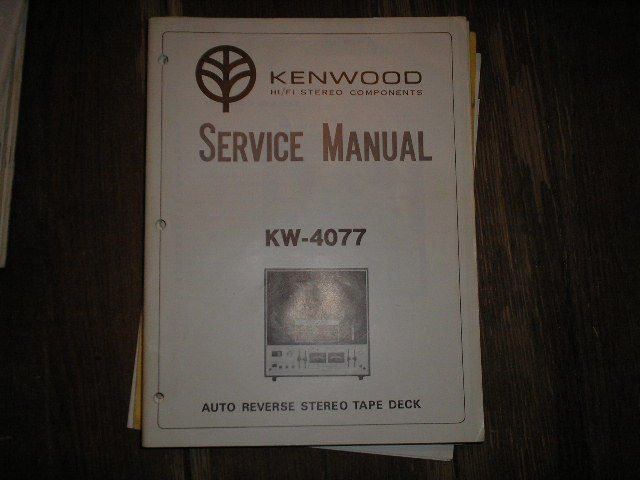 KW-4077 Reel to Reel Service Manual  Kenwood