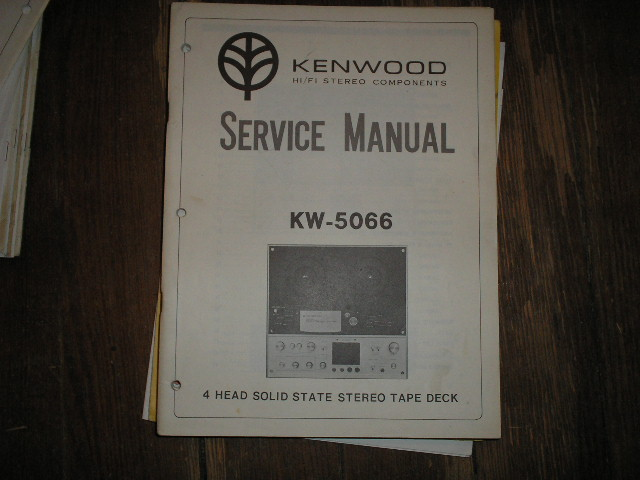 KW-5066 Reel to Reel Service Manual  Kenwood