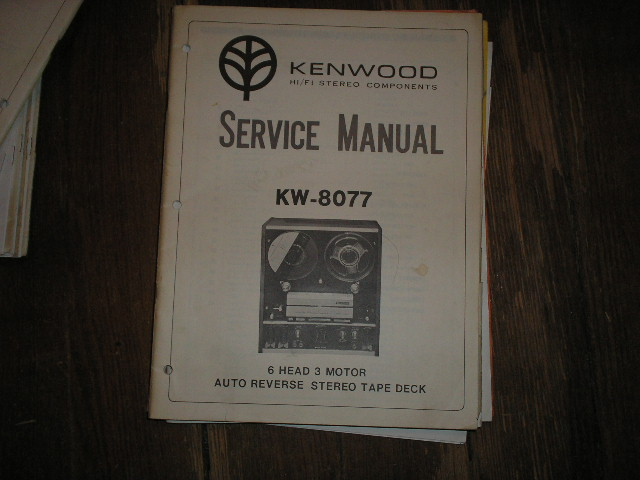 KW-8077 Reel to Reel Service Manual  Kenwood