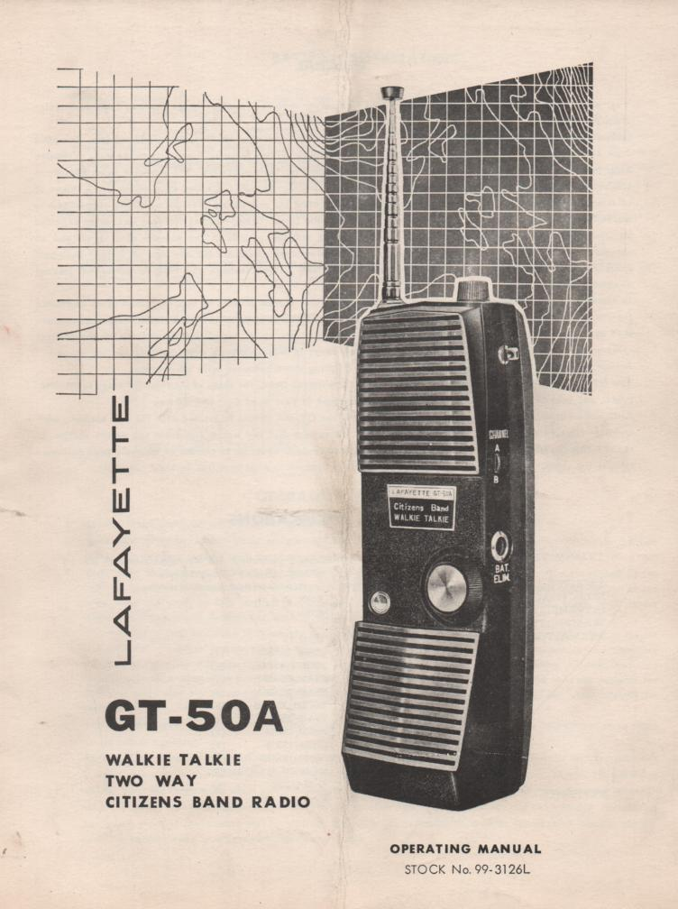 GT-50A Walkie Talkie CB Radio Owners Service Instruction Manual