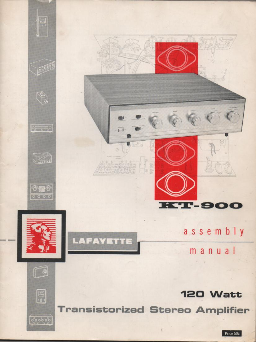 KT-900 Amplifier Assembly Manual..  Comes with 6 large foldouts, schematic, and assembly instructions for the kit.
