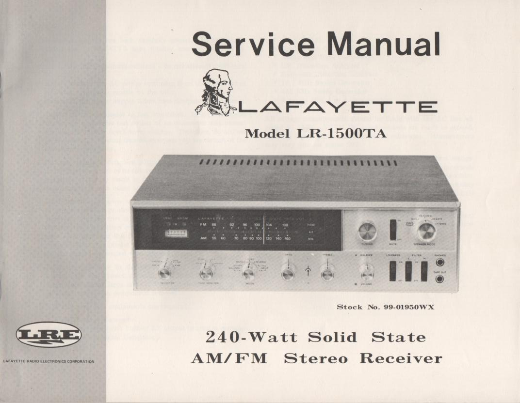 LR-1500TA Stereo Receiver Service Manual