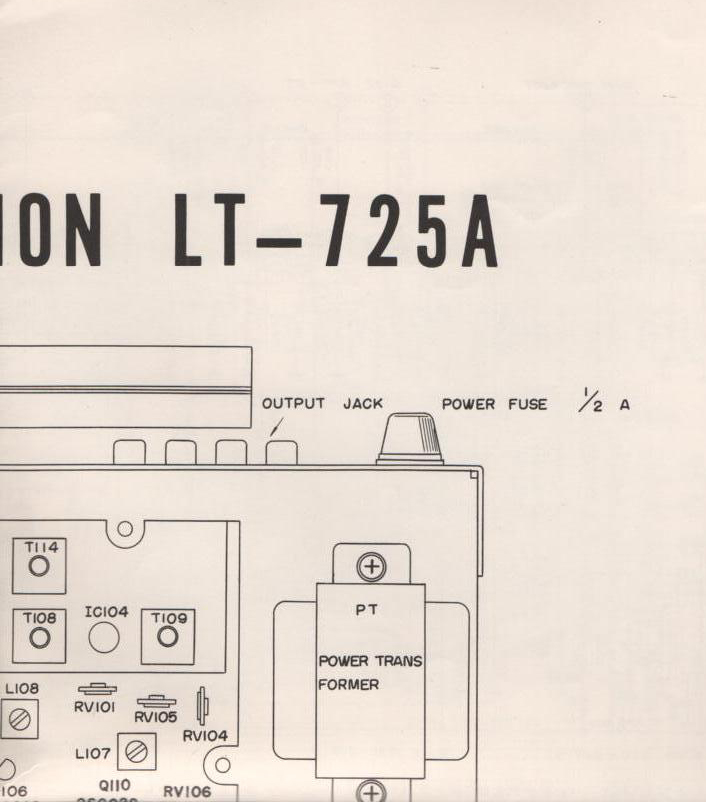 LT-725A Tuner Foldout Schematic and Parts foldout.  ( 2 foldouts)
