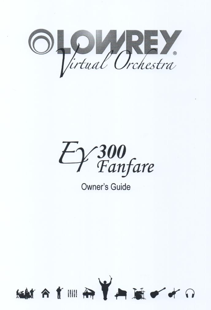 EY300 Fanfare Organ Owners Manual.  62 pages
