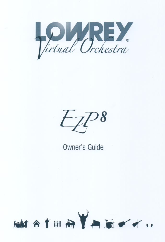 EZP8 Virtual Orchestra Organ Owners Manual.