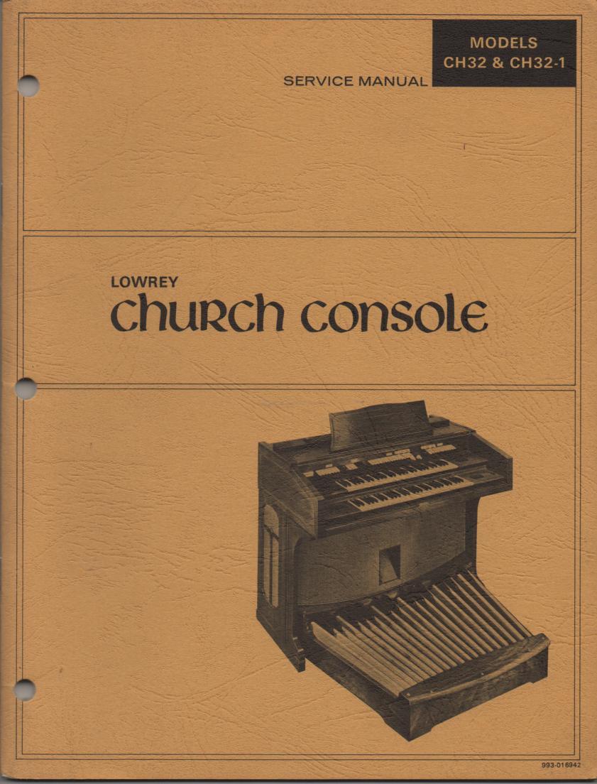 ch32 ch32 1 church console organ service manual GS1 Lowrey Genie Organ Lowrey Genie Organ Manual