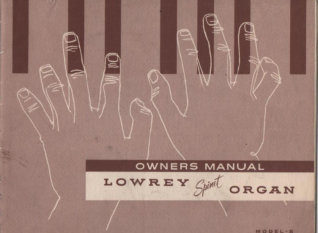 Spinet S Organ Owners Operating Instruction Manual