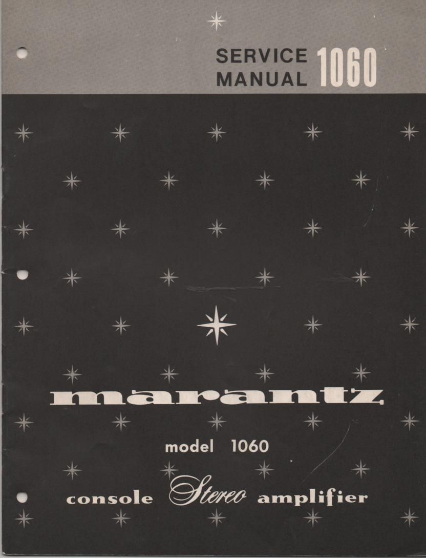 1060 Stereo Console Amplifier Service Manual