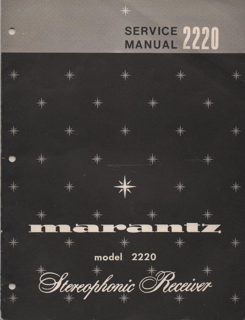 2220 Stereo Receiver Service Manual  MARANTZ