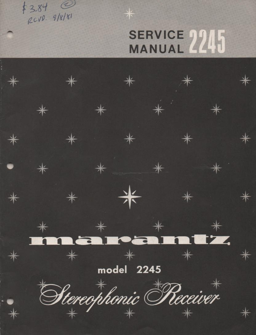 2245 Stereo Receiver Service Manual