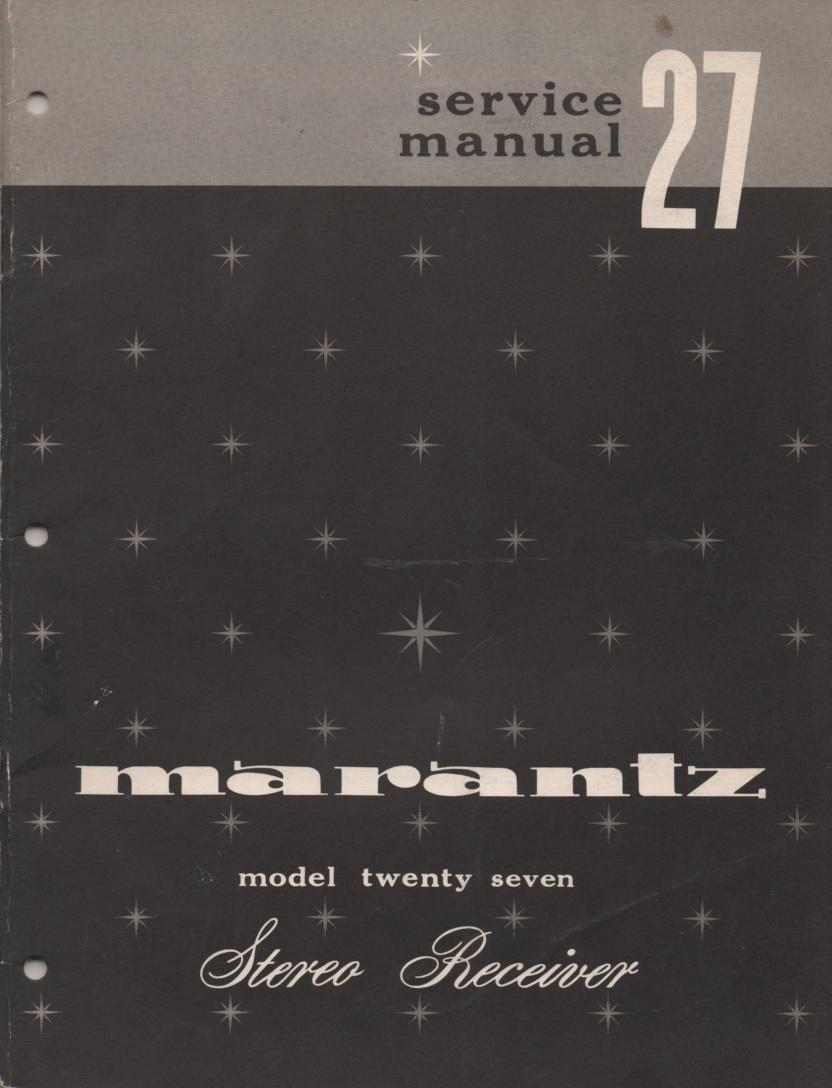 27 Stereo Receiver Service Manual