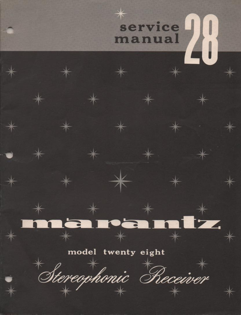 28 Stereo Receiver Service Manual  MARANTZ